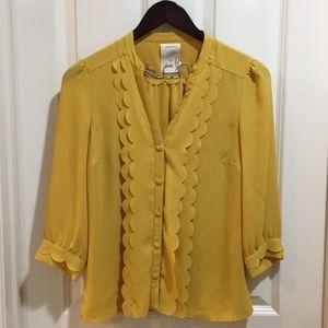 ANTHROPOLOGIE meadow rue ruffled blouse